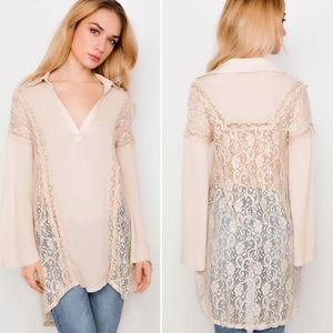 Tops - Gorgeous Boho Lace Bell Sleeve Tunic